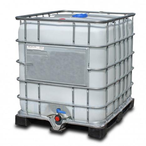 Destilliertes Wasser, Demineralisiertes Wasser, 1000 Liter im neuen IBC, Leitfähigkeit < 10 µS/cm