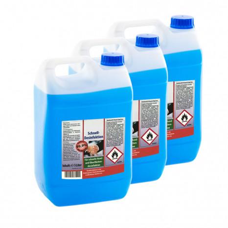 Desinfektionsmittel 3x 5 Liter, für Hand- und Flächendesinfektion, VIRUZID, entfernt 99,9% aller Bakterien