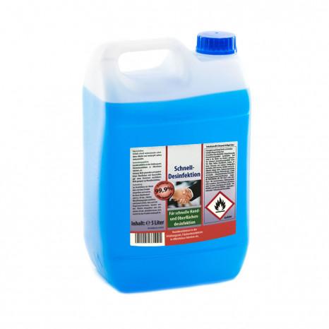 Desinfektionsmittel 5 Liter, für Hand- und Flächendesinfektion, VIRUZID, entfernt 99,9% aller Bakterien