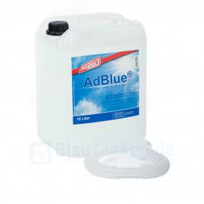 AdBlue Kanister 10 Liter mit Ausgießer für Mercedes-Benz MAN Volvo DAF Iveco Mitsubishi Renault Scania Volkswagen und vielen mehr