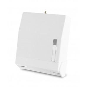 Papierhandtuch - Spender für 600 Blatt, abschließbar weiß
