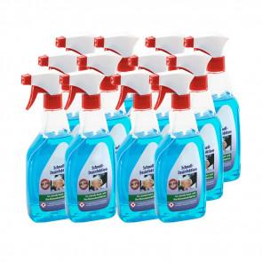 Desinfektionsmittel 12x 500 ml, für Hand- und Flächendesinfektion, VIRUZID, entfernt 99,9% aller Bakterien